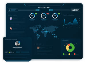 An example of Lucidya's all-in-one dashboard for brands